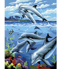 Royal Langnickel Junior Small Paint By Number Kit Dolphins