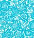 Tutti Fruitti Embossed Fabric Splash Tropical Turquoise