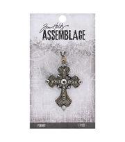Tim Holtz® Assemblage 2.13'' Vintage Cross Pendant, , hi-res