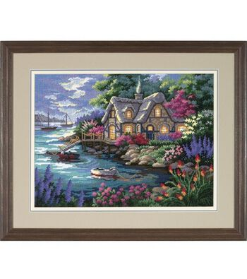 Dimensions Needlepoint Kit Cottage Cove