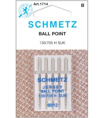 Schmetz Ball Point Machine Needles 5/Pk-Size 12/80