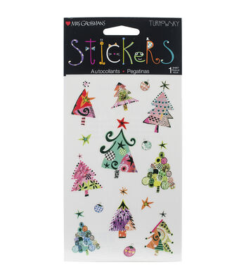 Mrs. Grossman's Stickers-Christmas Trees