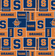 "Syracuse University Orange Fleece Fabric 58""-Block, , hi-res"