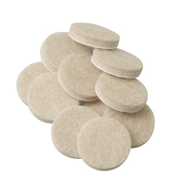 SoftTouch 48 pk 1'' Value Felt Pads-Oatmeal