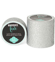 "Heidi Swapp Marquee Love Washi Tape 2""-Silver Glitter, 8', , hi-res"