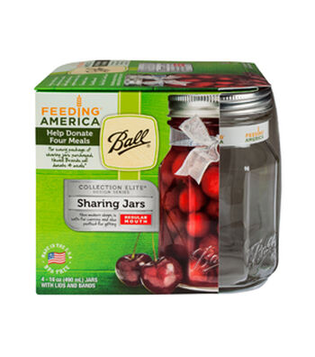 Ball® Elite 4 Pack 16 oz. Regular Mouth Pint Sharing Mason Jars