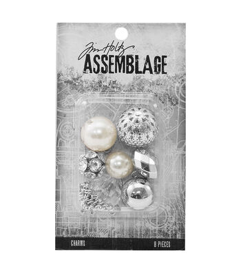 Tim Holtz® Assemblage Pack of 8 Bauble Mix Charms