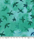 Keepsake Calico™ Cotton Fabric-Tonal Birds Teal
