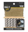 Chalk It Now Twine 2/Pkg-Black/White & Natural, 4yds Each