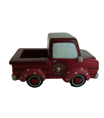 Valentine's Day Littles Resin Mini Truck-Red