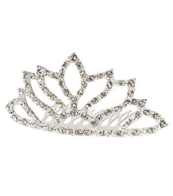 Fashion & Fluff™ Crown with Clear Rhinestones