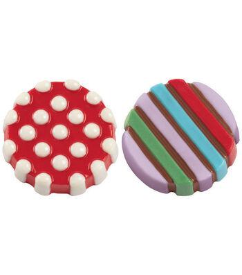 Wilton® Cookie Candy Mold 6 Cavity-Dot Stripe