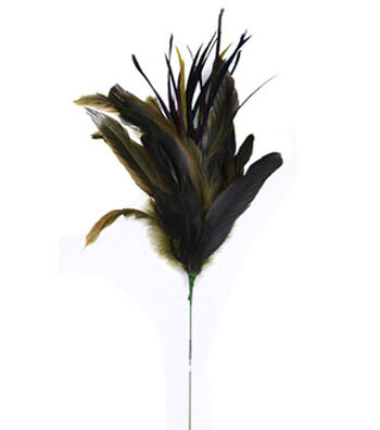 """Bloom Room 24"""" Peacock Feather Spray"""
