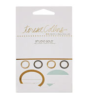 Teresa Collins Studio Gold Label Stickers 66/Pkg, , hi-res