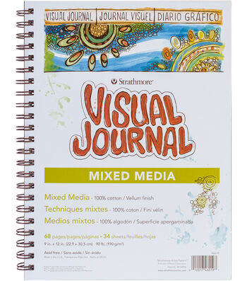 "Strathmore Visual Journal Mixed Media Vellum 9""X12""-34 Sheets"