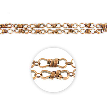 "Blue Moon Beads Strand 14""Metal Chain, Rope Twist Link, Ox Copper"