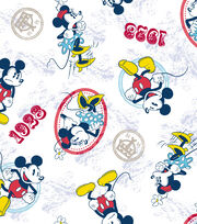 "Disney® Mickey Mouse Cotton Fabric 43""-Mickey and Minnie Vintage Couple, , hi-res"