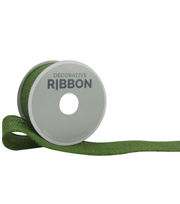 "Decorative Ribbon 1.5"" Solid Burlap Ribbon-Green"