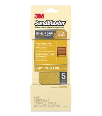 3M Sandblaster Advanced Abrasives 220 Grit Sandpaper