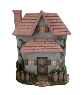Bloom Room Littles Resin House With Pink Roof