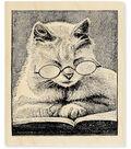 Cattus Librum Wood Stamp