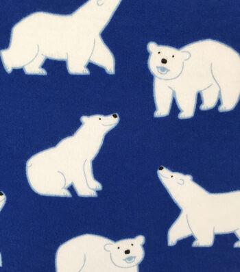 "Doodles Juvenile Apparel Fabric 57""-Polar Bear Buddy Interlock"