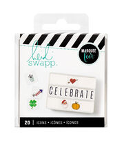 Heidi Swapp Lightbox Inserts 20/Pkg-Holiday Icons, , hi-res