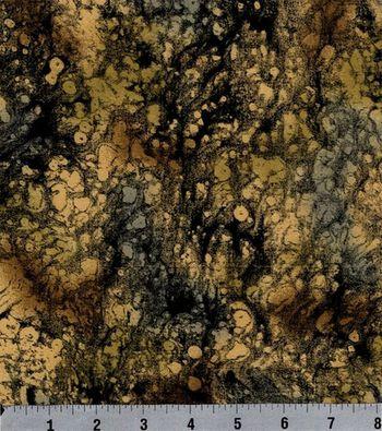 "Keepsake Calico™ Cotton Fabric 44""-Black and Tan Texture"