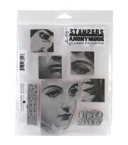 Tim Holtz Cling Rubber Stamp Set-Classics #5, , hi-res