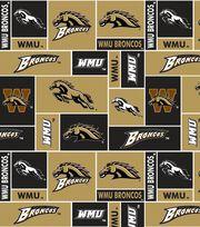 "Western Michigan University Broncos Fleece Fabric 60""-Logo, , hi-res"