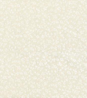 "Keepsake Calico™ Cotton Fabric 44""-White Vine on Muslin"