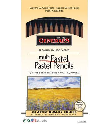 MultiPastel Pencils 24/Pkg-Assorted Colors