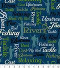 Anti Pill Fleece Fabric 58\u0027\u0027-Fishing Words