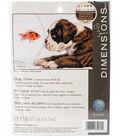 Dog Bowl Counted Cross Stitch Kit-7\u0022X5\u0022 14 Count