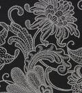 Richloom Studio Multi-Purpose Decor Fabric-Elnora Black