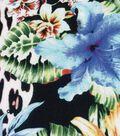 Silky Prints - Satin Tropical Animal Black