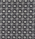 Gypsyland Collection Embr Black Ivory Polyester Fabric