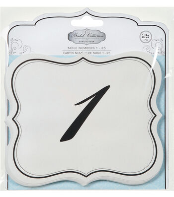 David Tutera Table Number Cards, Numbers 1-25