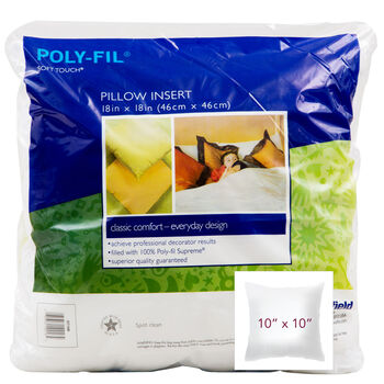 """100% Polyester Filled """"Downlike"""" Pillow - 10"""" Square"""