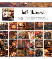 American Crafts™ 48 Pack 12''x12'' Paper Pad-Fall Harvest, , hi-res