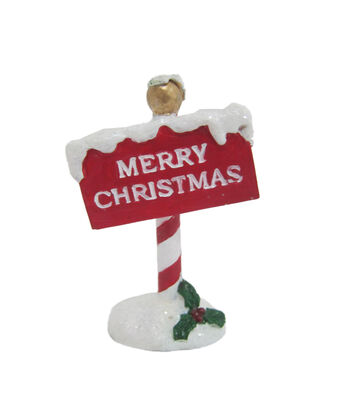 Maker's Holiday Christmas Littles Resin Sign-Red & White Merry Christmas
