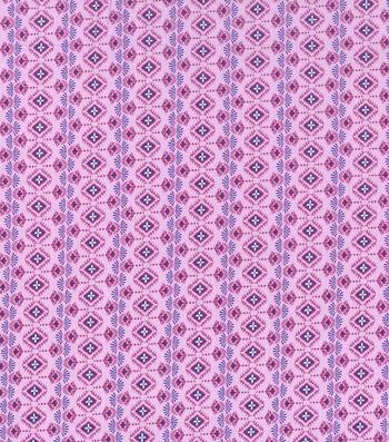 "Keepsake Calico™ Cotton Fabric 43""- Purple Intricate Butterfly"