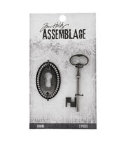Tim Holtz® Assemblage Pack of 2 Key & Keyhole Charms, , hi-res