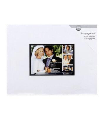 "Wilton® 11""x14"" Wedding Autograph Mat & Pen"