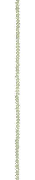 7\u0022 Bead Strands - Crystal Peridot Green Rondelles, 3 x 4mm