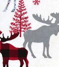 Snuggle Flannel Fabric 42\u0027\u0027-Patterned Buffalo Check Moose