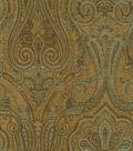 Waverly Upholstery Fabric 54\u0022-Clubroom Paisley Spa