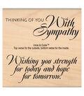 MSE My Sentiments Exactly Strength & Hope Mounted Stamp 3\u0027\u0027x3.25\u0027\u0027