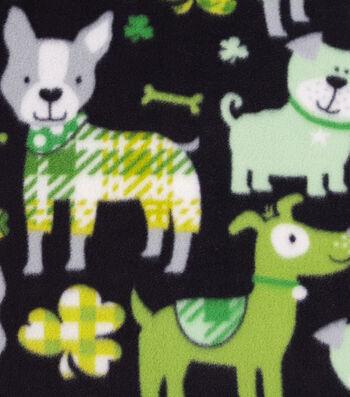 "Lucky Irish Fleece Fabric 59""-Lucky Dog"