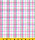 Summerville Woven Plaid Fabric-Pink/Green/Teal
